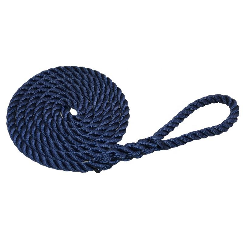 Hard Wearing UV Resistance Nylon Polyester PP Marine Rope Twisted Fender Line