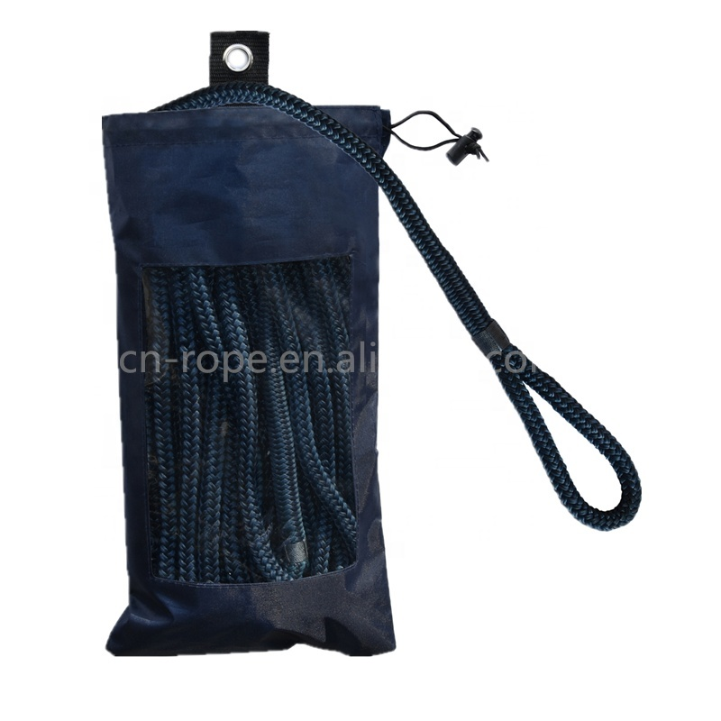 Factory Supply Double Braided Marine Rope UV Resistance Fender Line with Spliced Eye