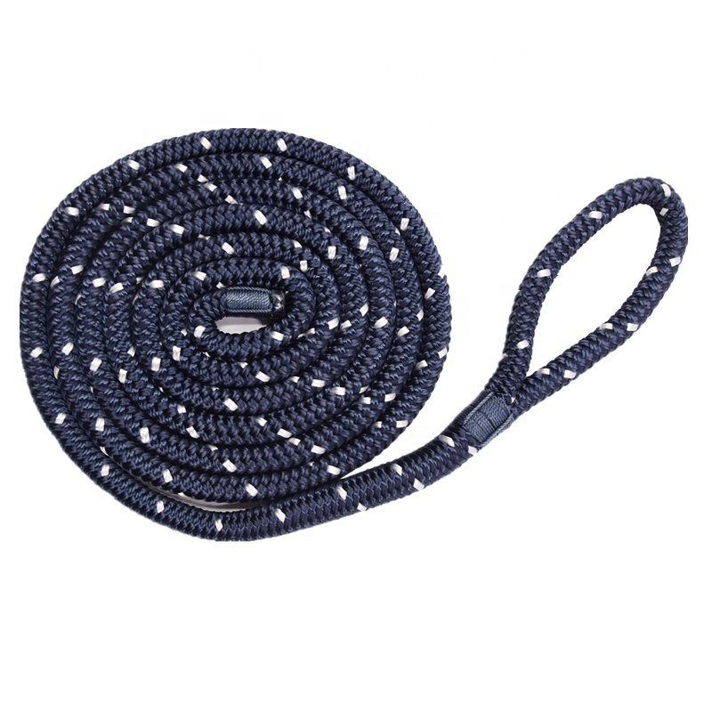 2020 Latest Style Mooring Rope for Boat Navy with White Reflective Tracer Fender Line
