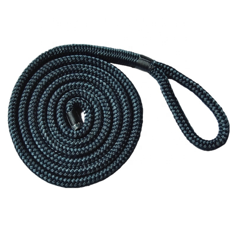 High Strength Polyester Fender Line for Yacht Boat Double Braided Mooring Rope