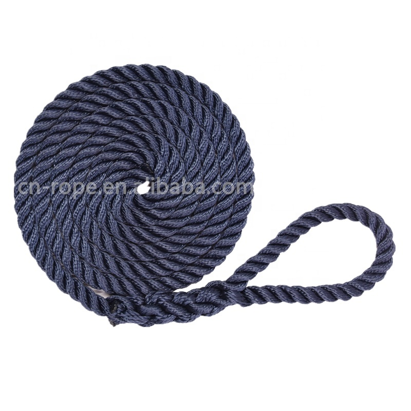Factory Price Customized Boat Mooring Rope High Strength Marine Fender Line
