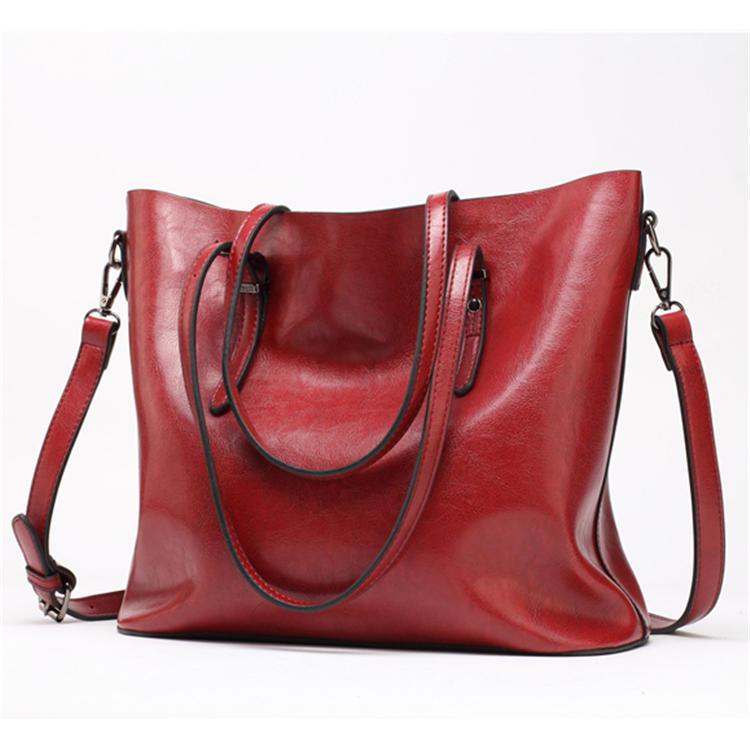 Women Leather Handbags Women's PU Tote Bag Large Female Shoulder Bags Bolsas Femininas Femme Sac A Main Brown Black Red