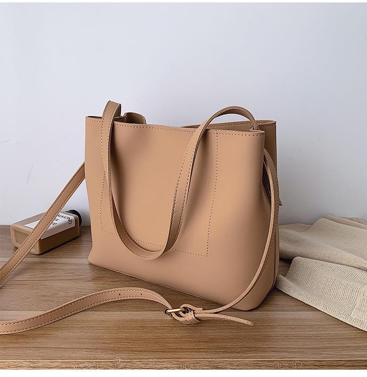 Casual Large Capacity Totes Designer Handbags Luxury Leather Female Shoulder Messenger Buckets Bag