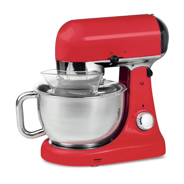 Stainless steel bowl mixer 5 liters dough mixer stand mixer
