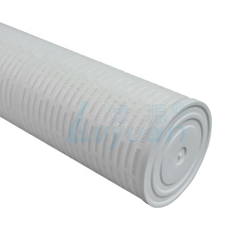 40/60 inch high flow water filter cartridge/1 micron pleated cartridge filter for filtration