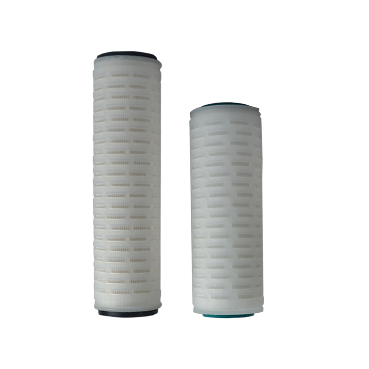 High flow pleated 10 microns PP / fiber glass membrane water filter replacement cartridge for sea RO water treatment system