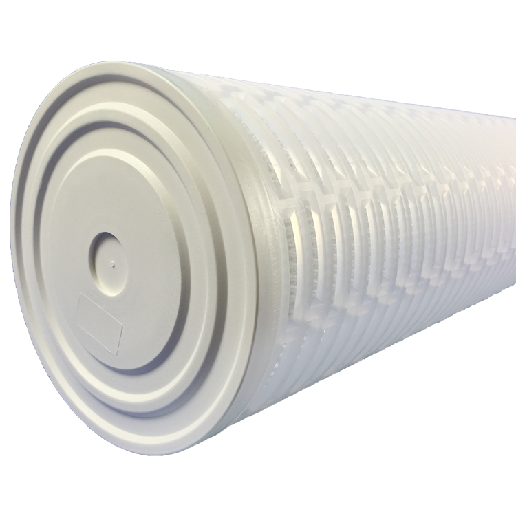 Big flow PP 10/20/30/40 inch 5 microns pleated polypropylene folded filter for industrial RO pre water plant