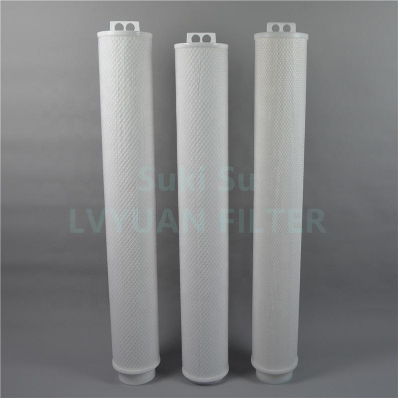 High flow industrial security water filter 1/5/10/20 microns 40 60 inch polypropylene pleated water filter cartridge