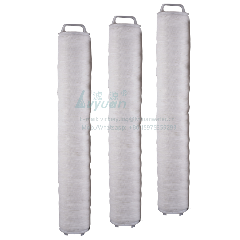 Industrial RO water treatment 40 inch fiber glass/polypropylene 10 microns large flow water filter element with PP plastic core