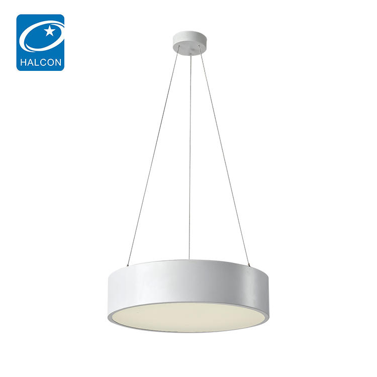 Elegant simple indoor office space condole line white circle 24w 30w 36w 48w led ceiling light
