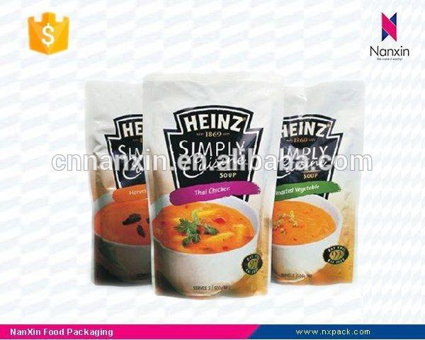 stand up packaging bag for soup