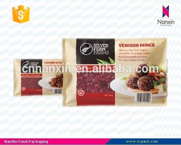 plastic minced meat packaging bag