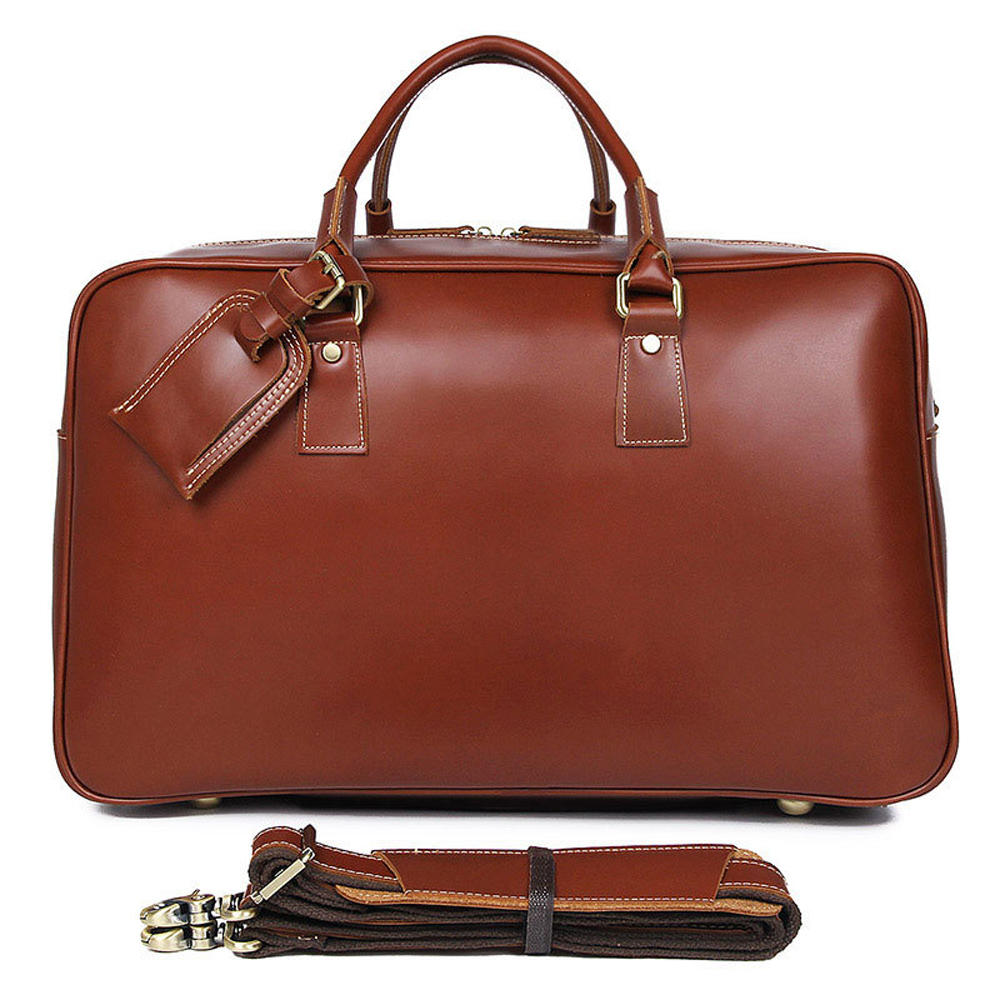 100% Genuine Leather Vintage design Man Travel Duffle bag with Detachable Strap Shoulder fashion Sports Weekend Tote bag for men