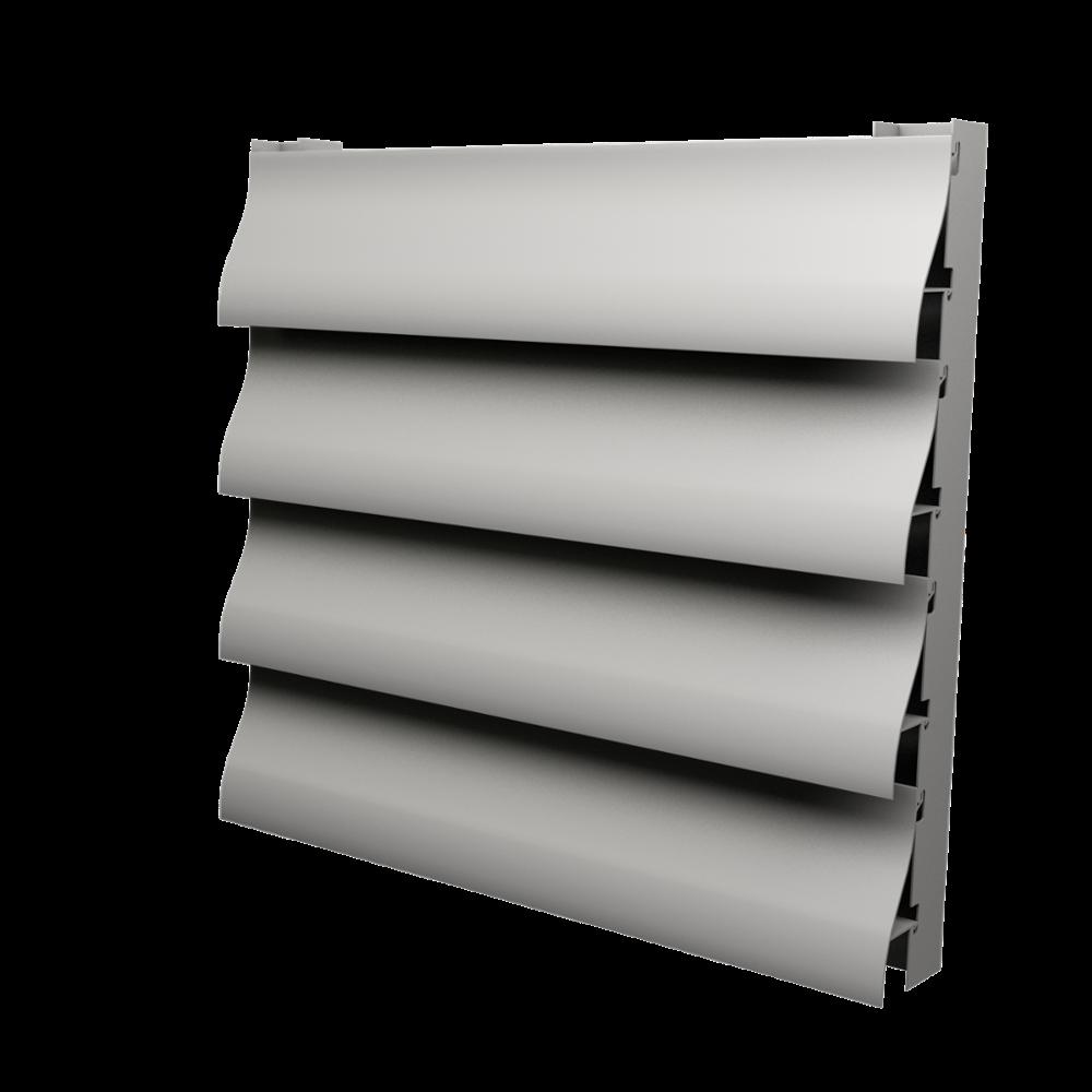 Custom large section airfoil aluminum louver profile