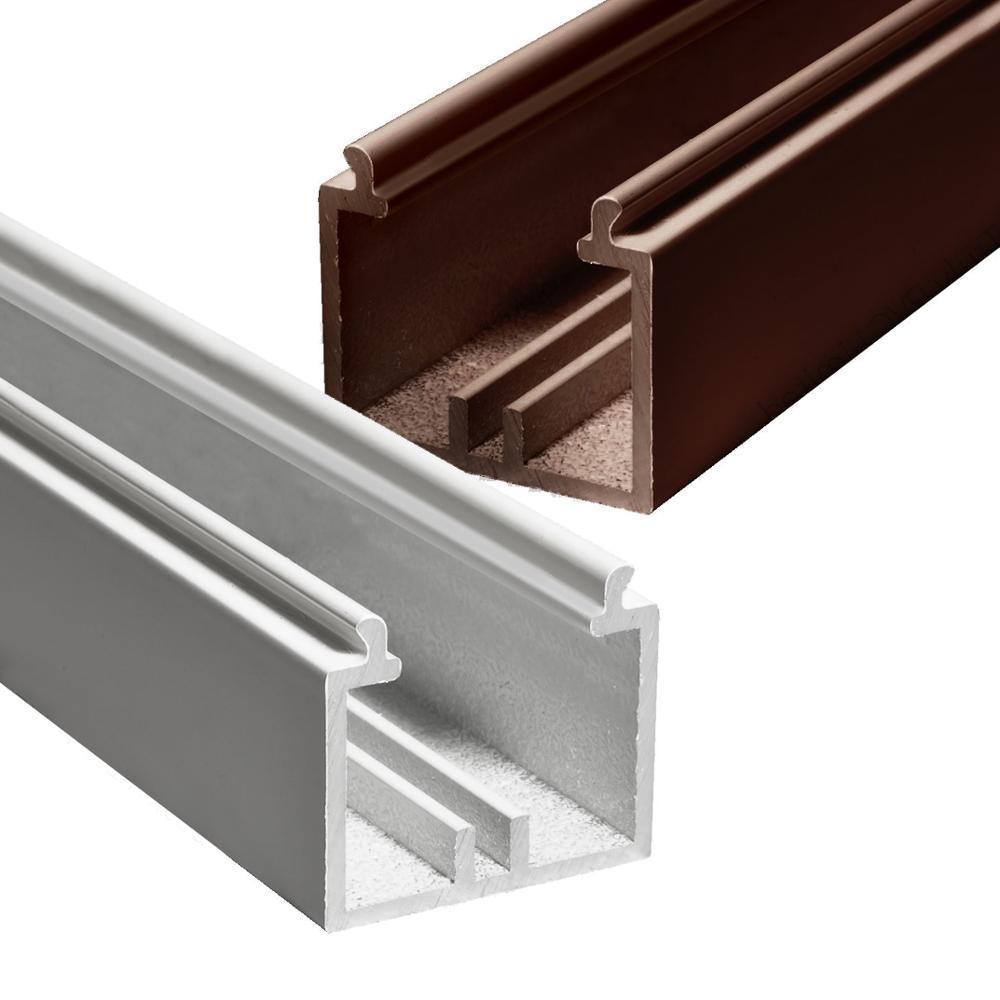 Powder coated aluminium track for curtain wall,window and door