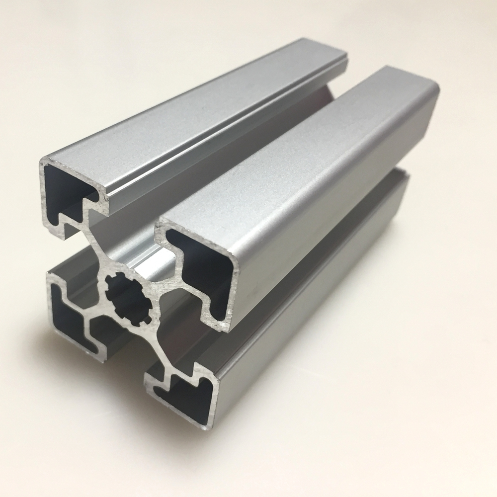 T-Slot 45mm x 45mm aluminum extrusion with 10 mm groove