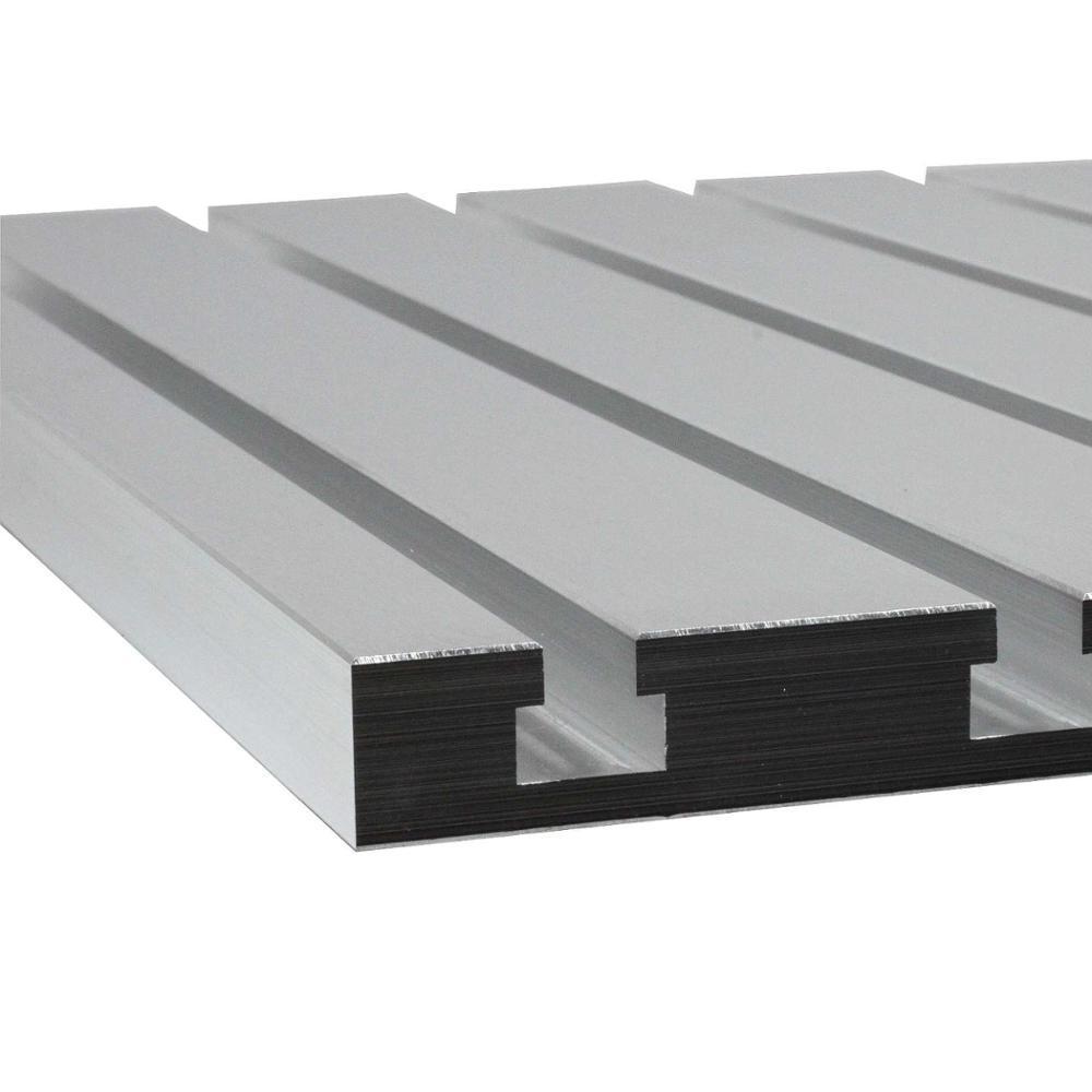 Aluminium T-slot plate 700x500 mm for CNC milling machine