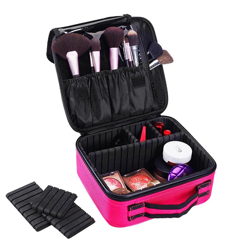 ks-120 Toiletry Bag nylon Cosmetic Case Women Cosmetic Bag Travel Waterproof Necessary Beauty Brush Organizer Makeup Bags