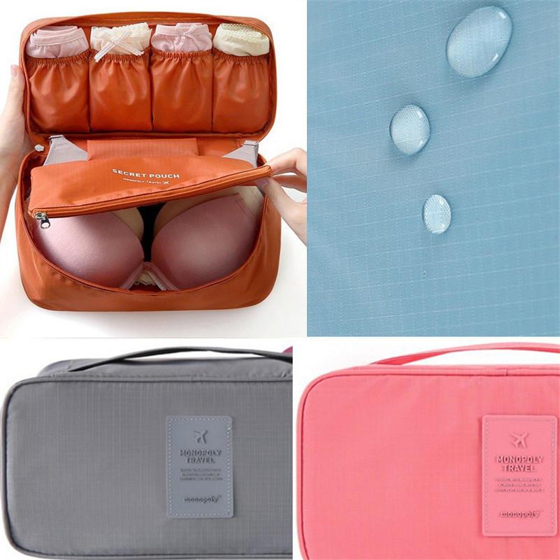 2020 New arrival Travel Bra Bag Underwear Organizer Bag Cosmetic Daily Toiletries Storage Bag Women's High Quality Wash