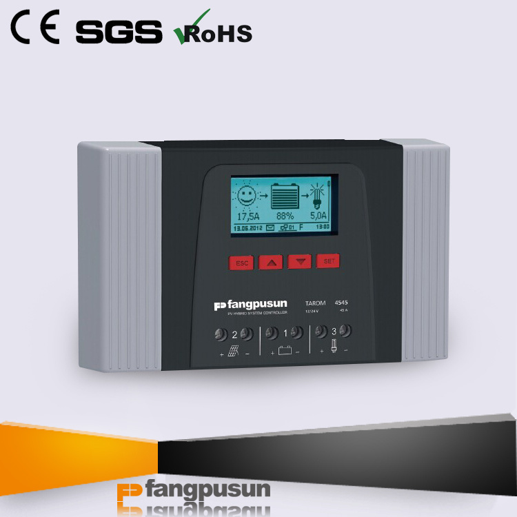 New Design Fangpusun Tarom4545 Solar Home System 12V 24V PV Panel Charge Controllers 45A with Datalogger