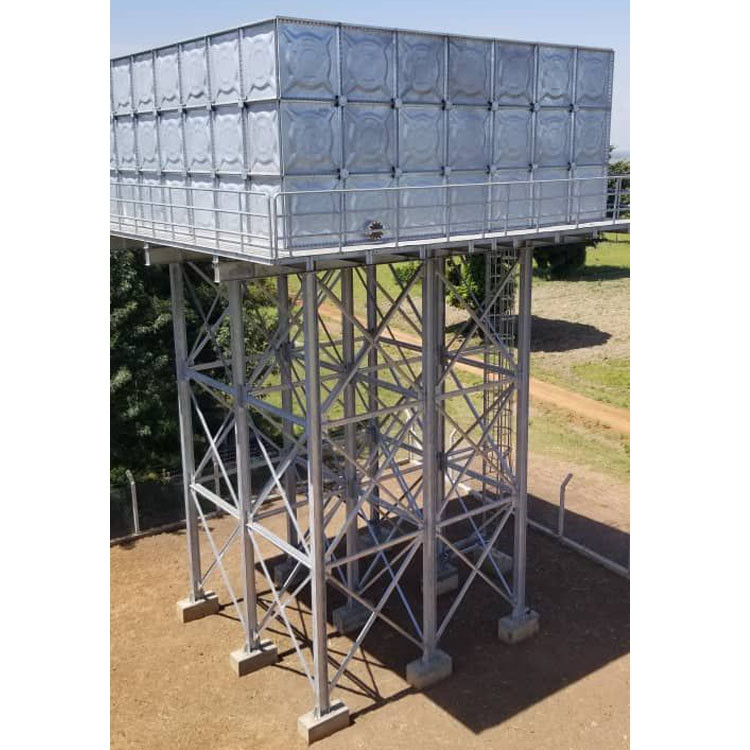 Hot dip Galvanized Steel Water Tank Support tower/Steel Tank Pillar and beam