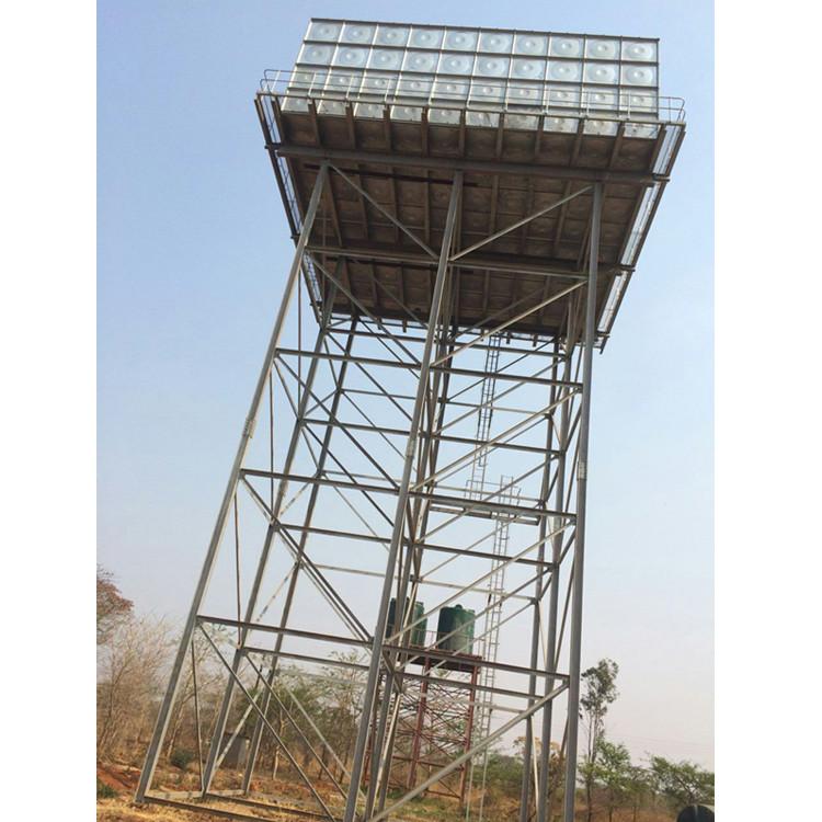 Hot-dip Galvanized Steel Structure Water Storage Tank Tower