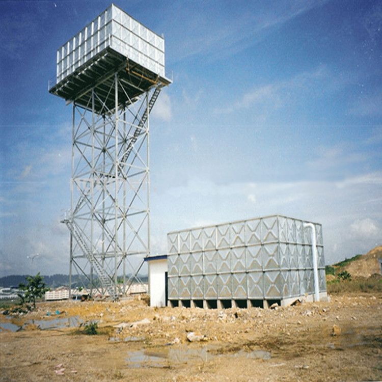 Prefabricated steel structure water tank tower