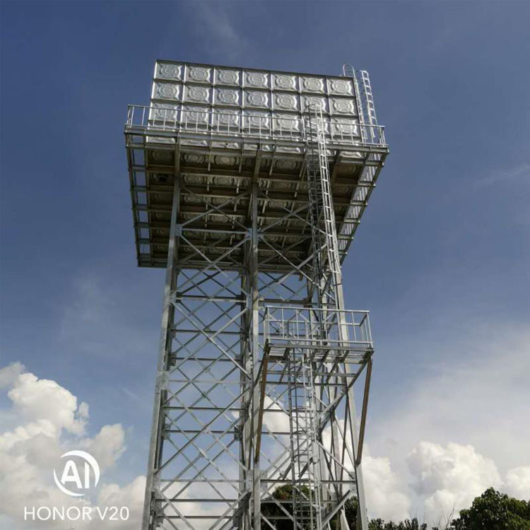 Elevated Water Storage Tank Frame Water Hot Dipped Galvanized Steel Structure Tower