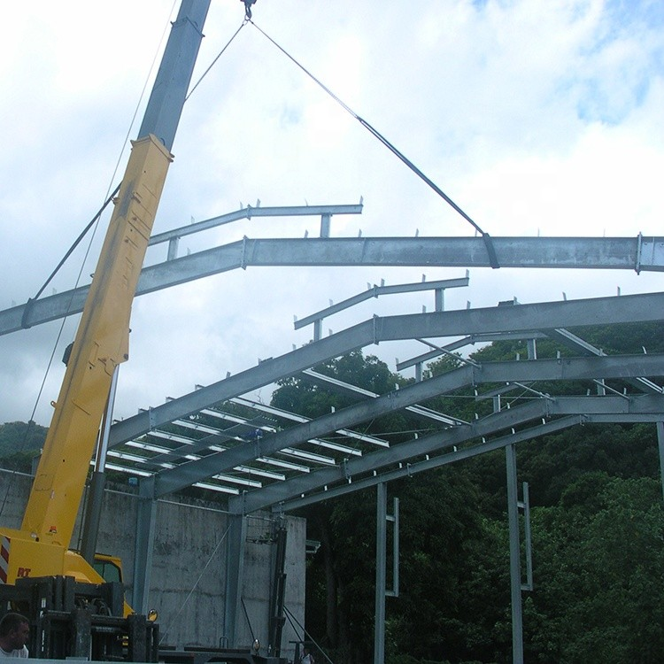 Galvanized Steel Fabricated House Structure Space Frame Building