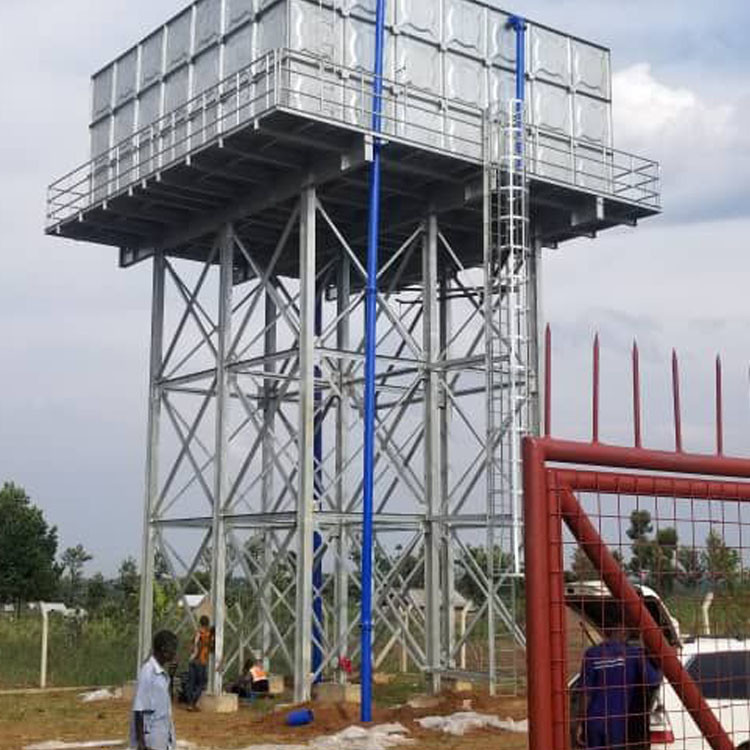 Hot-dip galvanized Steel Structure Elevated Water Tank Tower