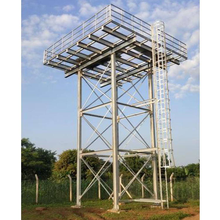 Hot-dipped galvanized Elevated Water Storage Tank with Steel Structure Tower