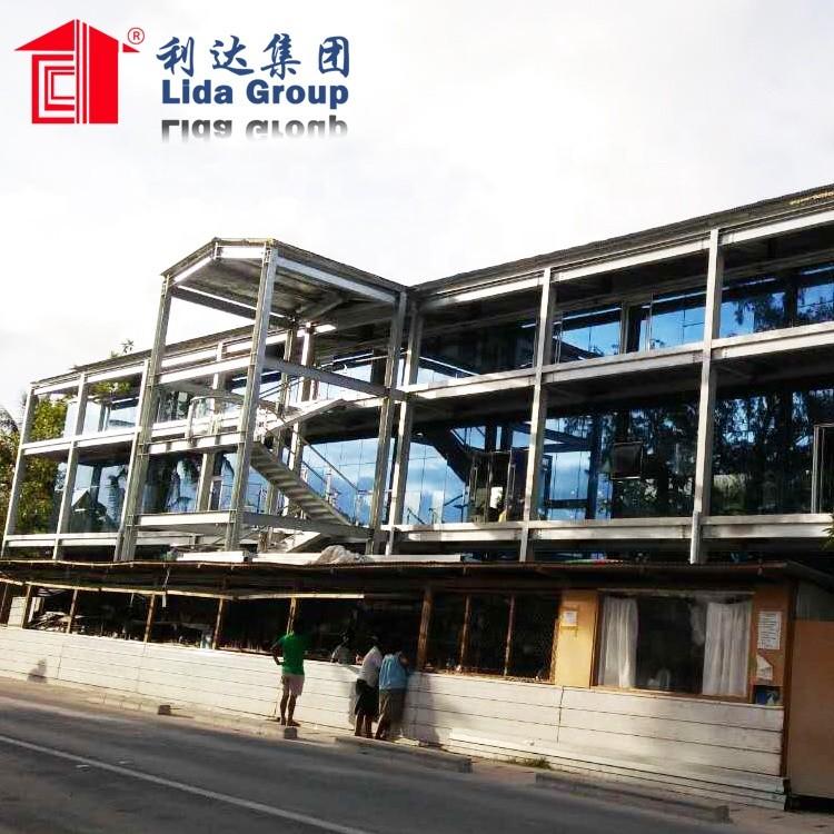 the building steel structure restaurant