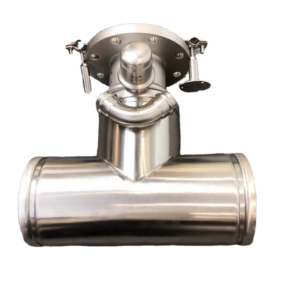 304/316L stainless steel grooved tee fitting connecting with pipe clamp 1.6Mpa