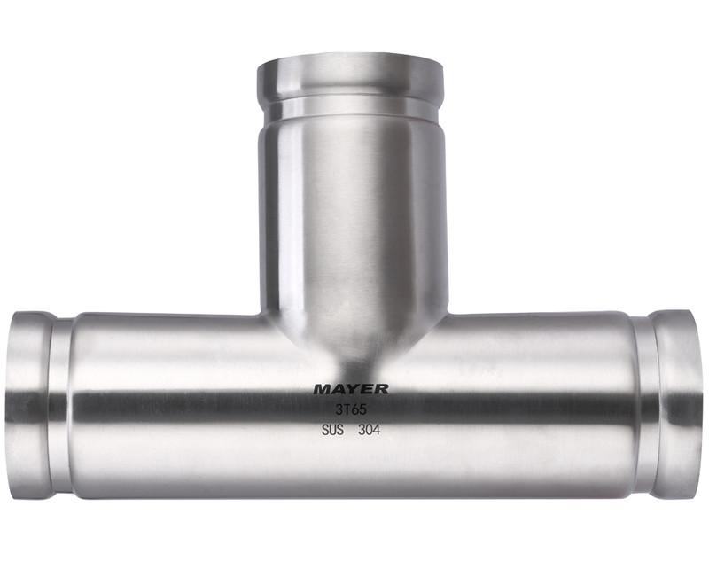 Stainless Steel Groove 3 Way Tee