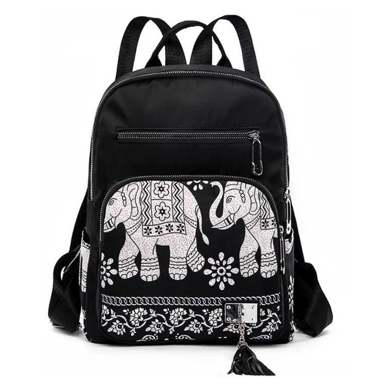 product-Osgoodway2Nylon Flower Printed Women Bag Backpack Fashion Girls School Backpack for Outdoor -1