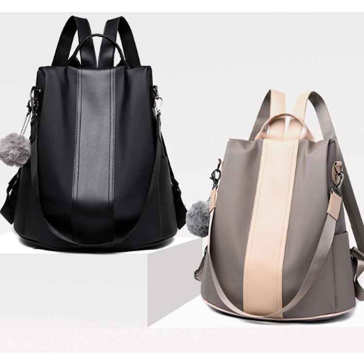 Osgoodway2 Waterproof Women Backpack Nylon Anti-theft Rucksack Lightweight School Shoulder Bag