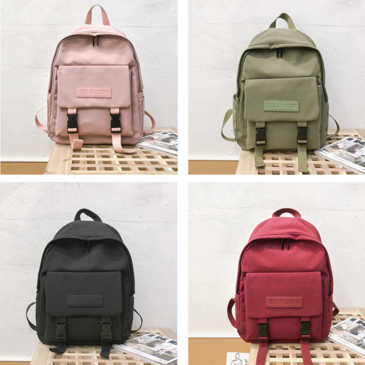 product-Osgoodway2 New Casual Women Backpack Solid Color Girls College Backpack Book Bags for High S-1