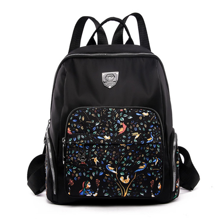 product-Osgoodway2 Girls 2019 New Nylon Anti-Theft Outdoor Travel Backpack Women Fashion Printed Sch-1