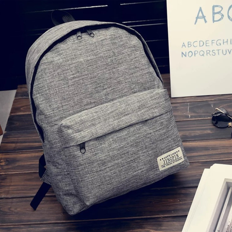 product-Osgoodway New Trendy Simple Student School Bag Mini Canvas Backpack Couple Bag-Osgoodway-img-1