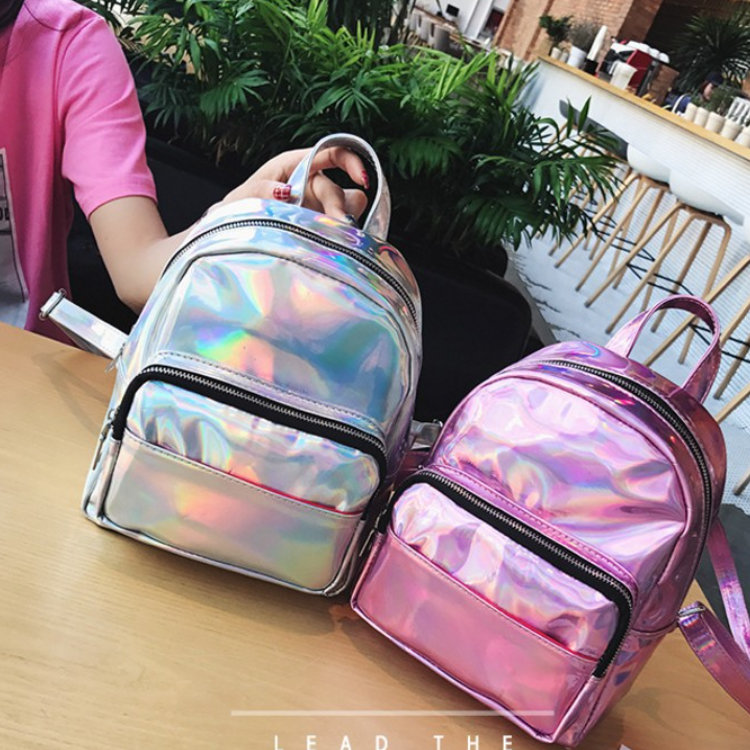 product-Osgoodway2 Fashion Wholesale Small Backpacks for Women Holographic Leather Backpack For Girl-1