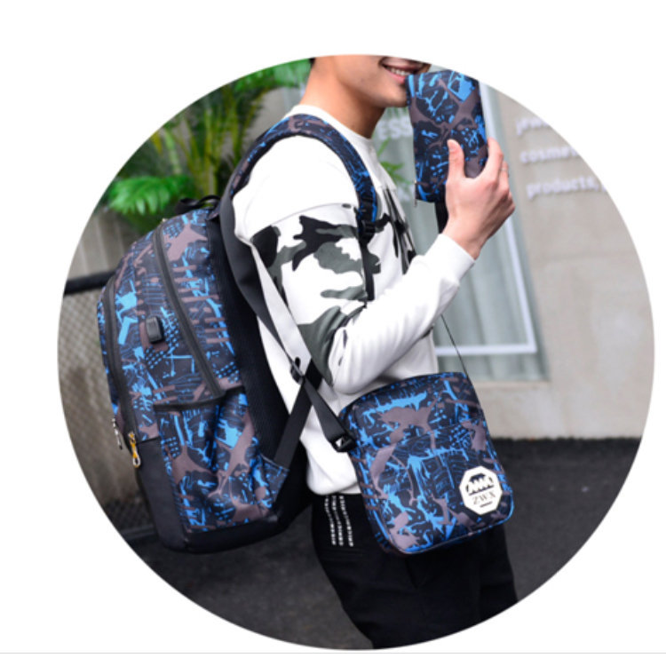 product-Osgoodway2 Wholesale Boys Backpack Printed 3 Pieces School Backpack Bag Set with USB Charger-1