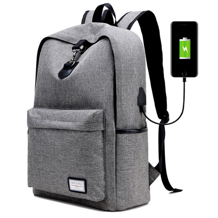 Osgoodway2 Laptop Backpacks For Outdoor Rucksack Travel USB Backpack Charger Bag