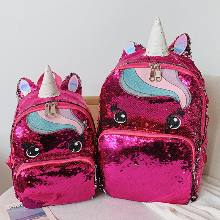 product-Osgoodway2 Unicorn Cute Girls Sequins Backpack Fashion Glitter Women Unicorn School Backpack-1