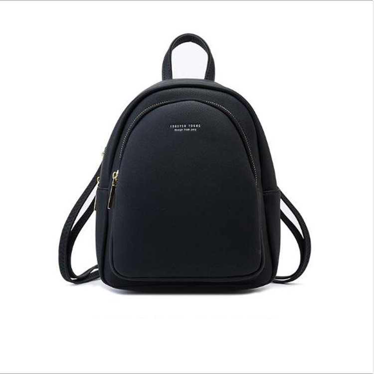 product-Osgoodway2 Solid color ladies soft PU leather backpack fashionable casual cute small backpac-1
