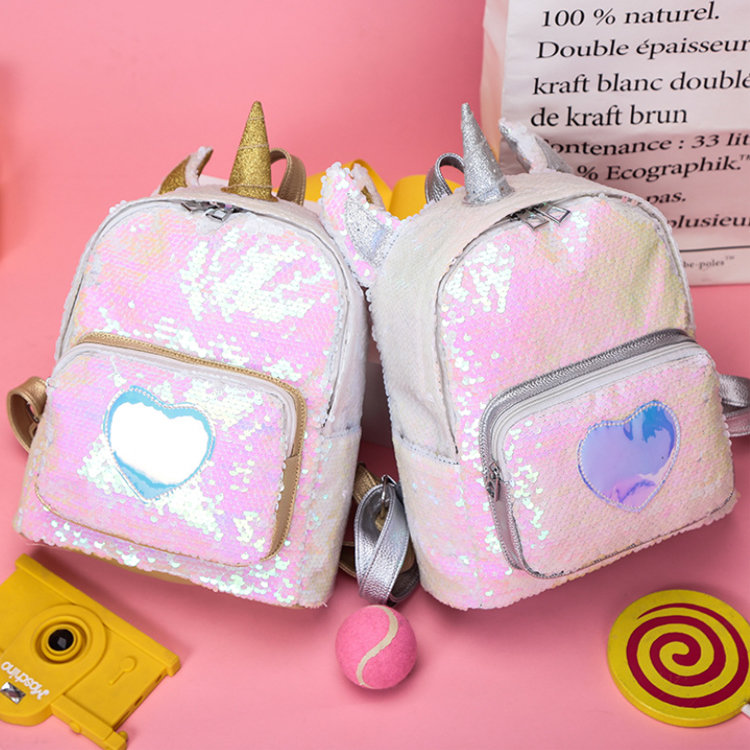 product-Osgoodway-Osgoodway2 Girl Sequin Unicorn School Backpack Bag Cute Sequin Laser Backpack Wome