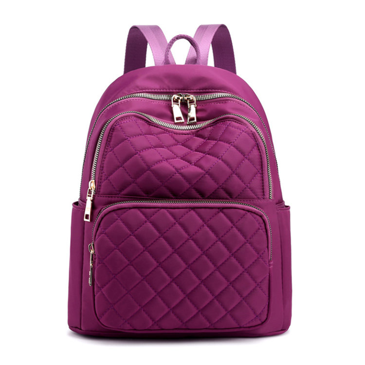 Osgoodway2 Fashion Quilted Ladies Backpack Bag Waterproof Women Outdoor Leisure Travel Student Backpacks