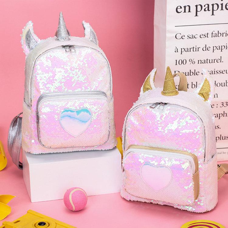 product-Osgoodway2 Girl Sequin Unicorn School Backpack Bag Cute Sequin Laser Backpack Women Bag-Osgo-1