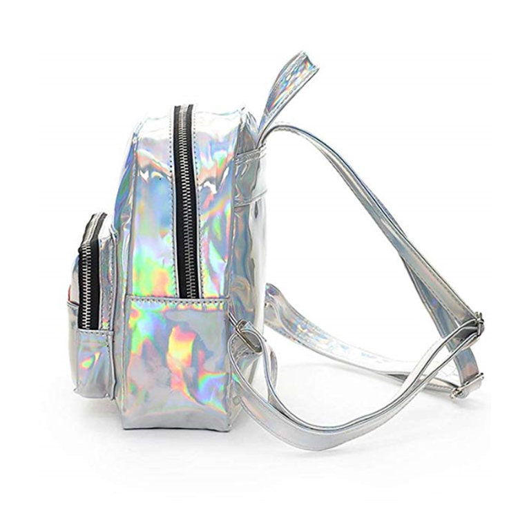 product-Osgoodway2 Small Fashion Travel School Bag Bookbag Pink Mini Girls Fancy Glitter Holographic-1