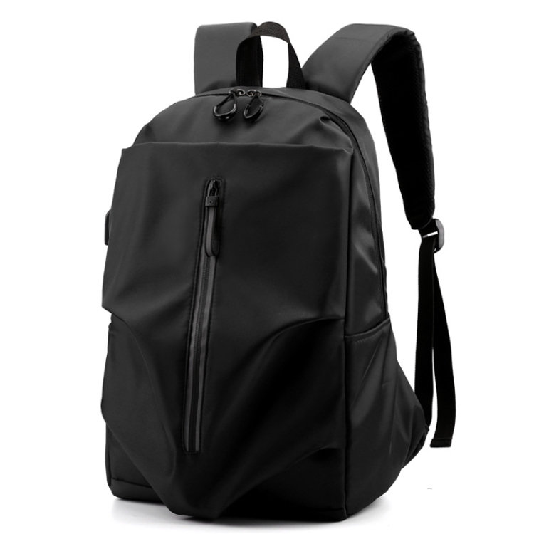 Osgoodway2 Fashion Nylon Business Laptop Bag University Students USB Men Travel Backpack with Reflective Zip