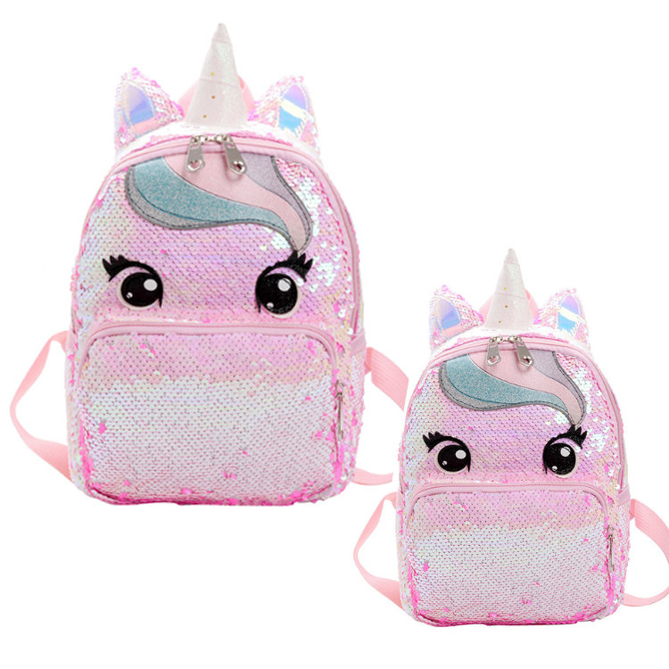 Osgoodway2 Unicorn Cute Girls Sequins Backpack Fashion Glitter Women Unicorn School Backpack